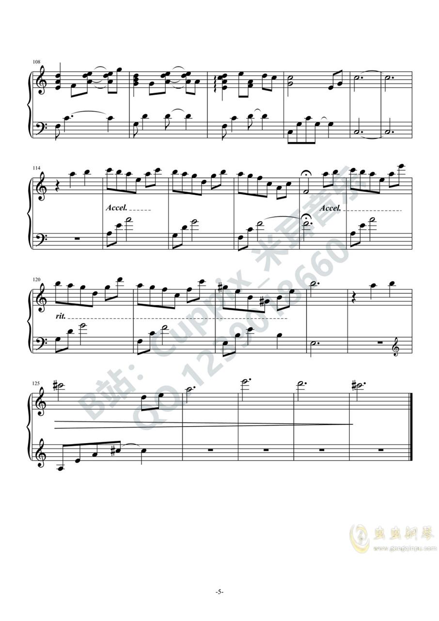 �乔喾� - 太空(Cuppix�配)�琴�V 第5�