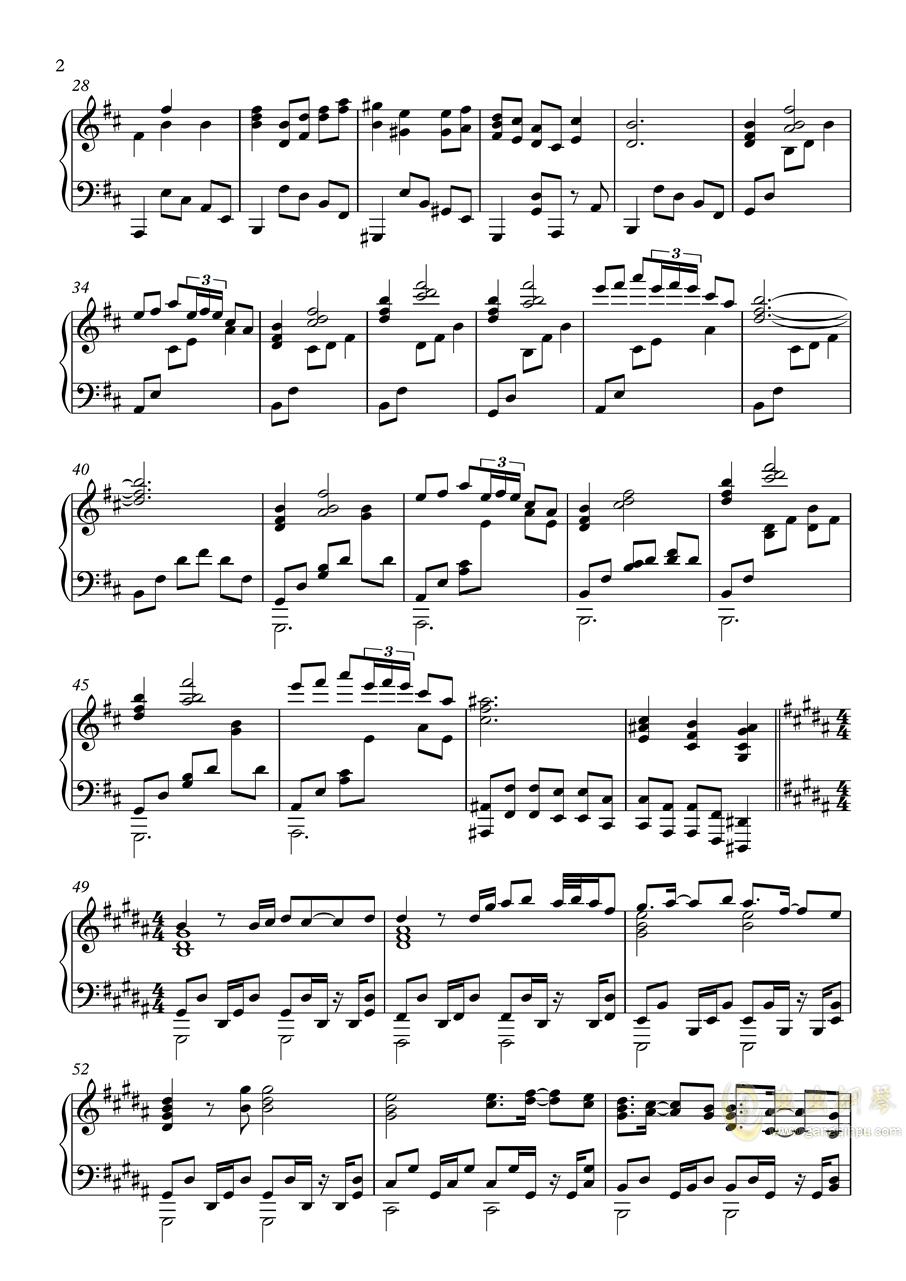 【�|方�L神�h】妖怪の山 ~ Mysterious Mountain【いんぷれ】钢琴谱 第2页