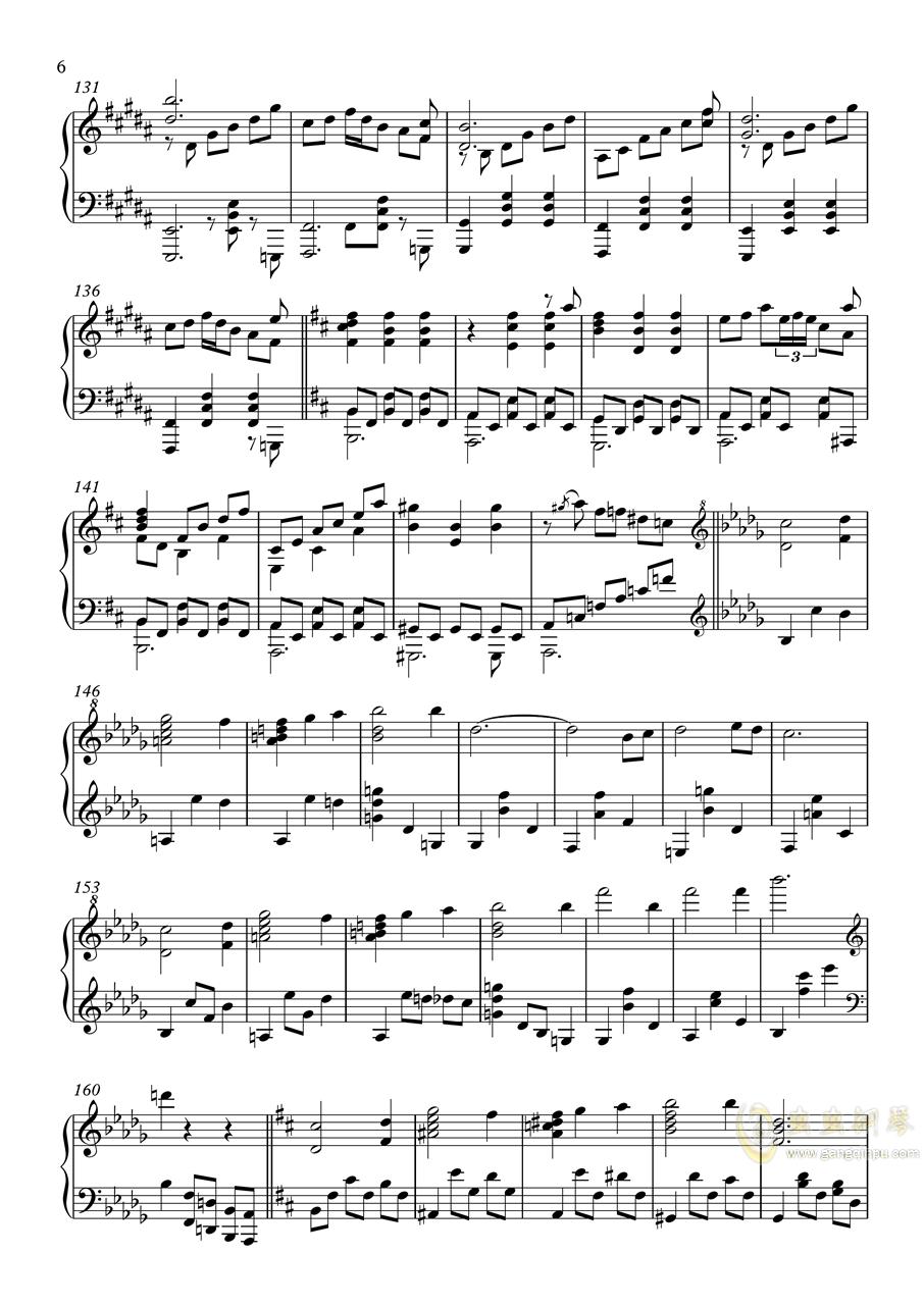 【�|方�L神�h】妖怪の山 ~ Mysterious Mountain【いんぷれ】钢琴谱 第6页