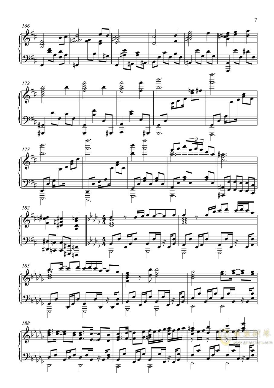 【�|方�L神�h】妖怪の山 ~ Mysterious Mountain【いんぷれ】钢琴谱 第7页