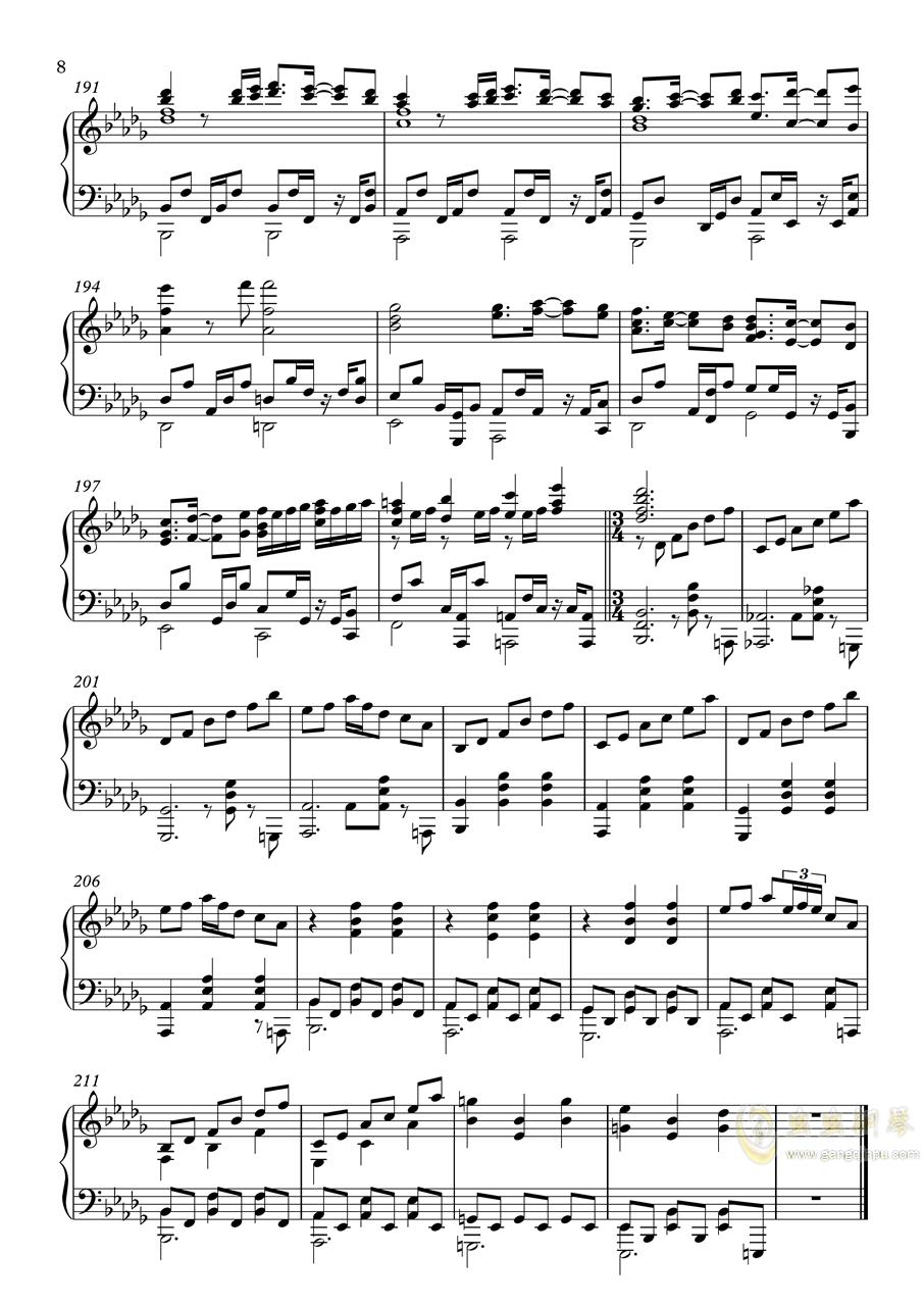 【�|方�L神�h】妖怪の山 ~ Mysterious Mountain【いんぷれ】钢琴谱 第8页