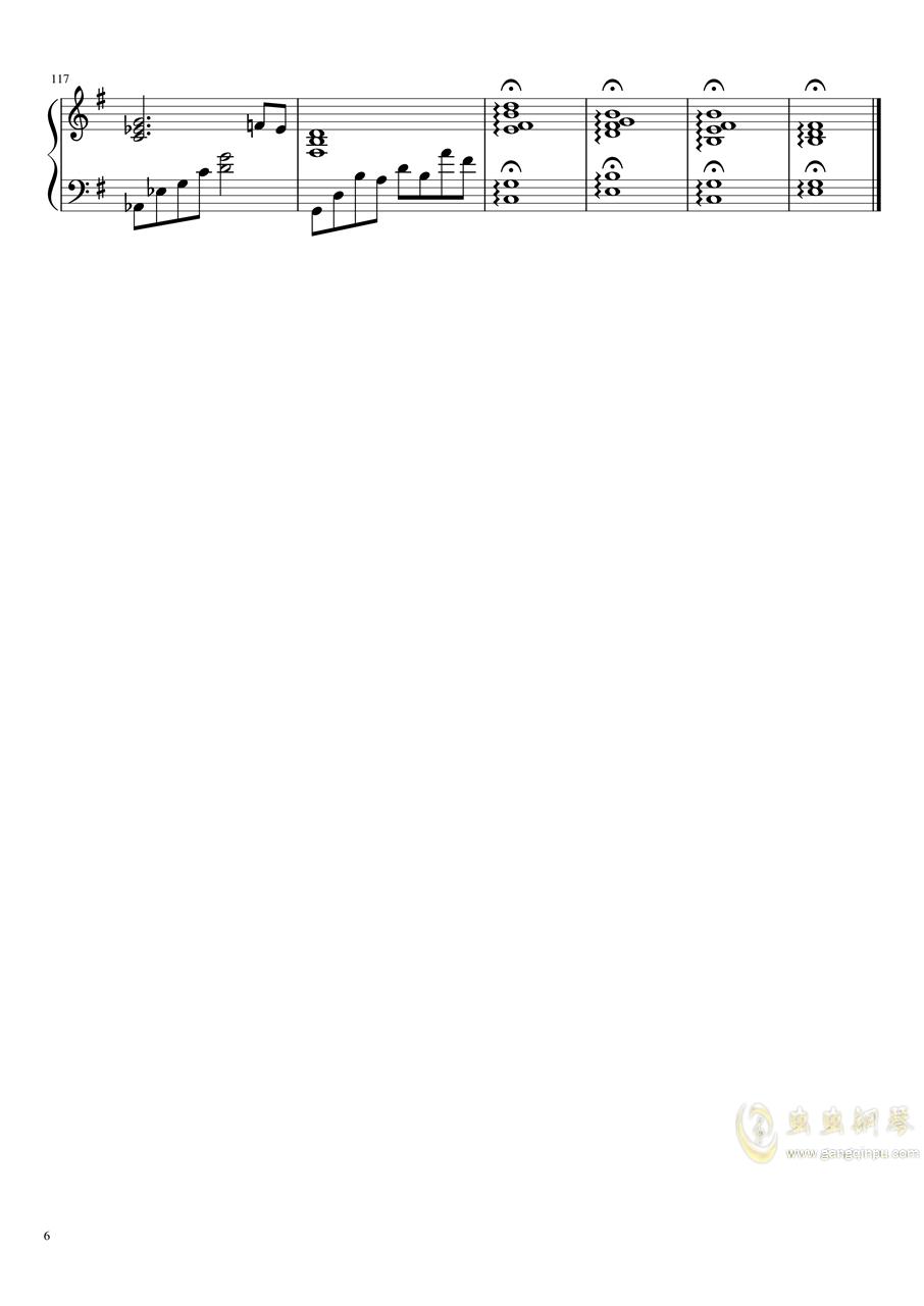 71343钢琴谱 第6页