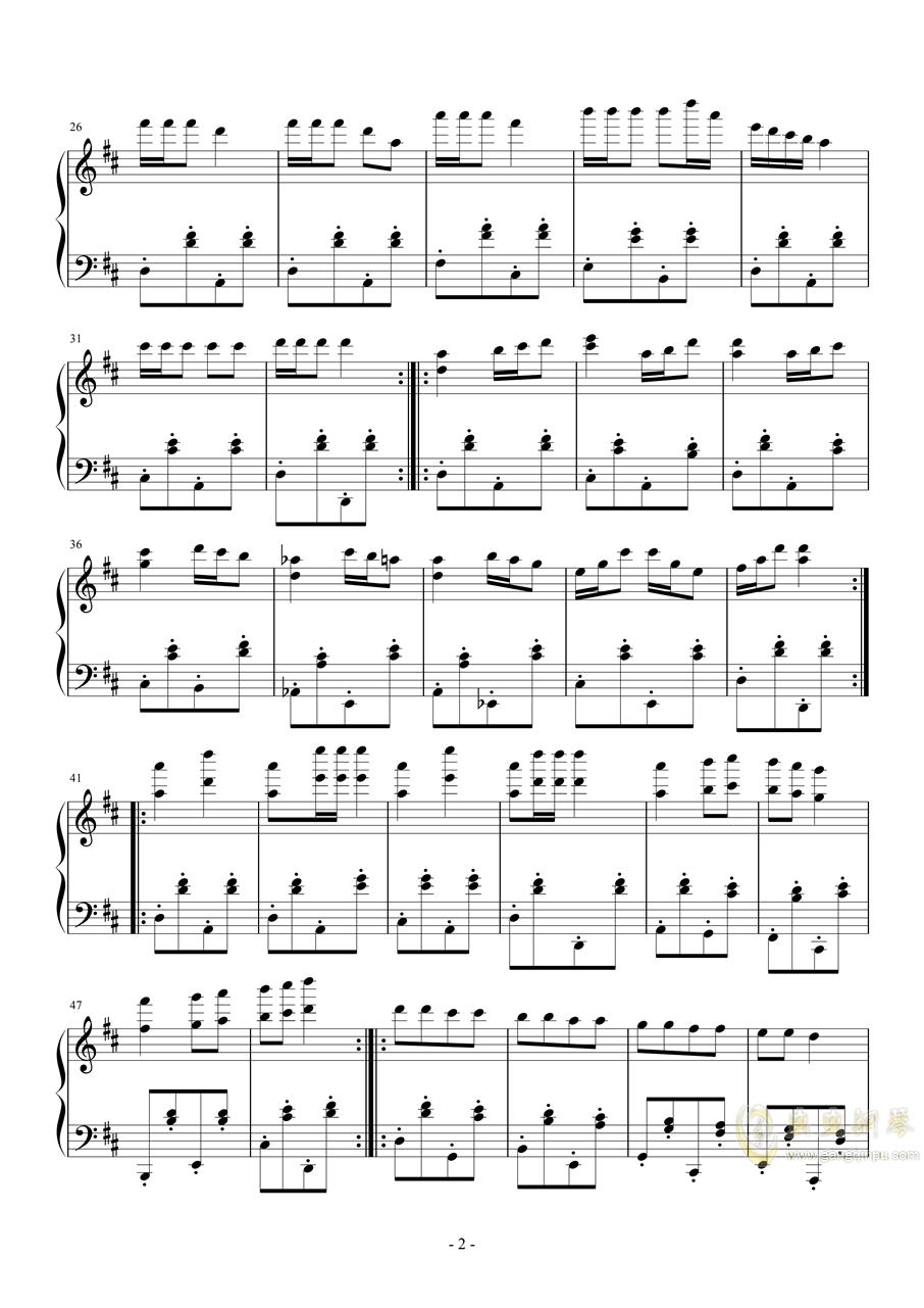 波尔卡4钢琴谱 第2页