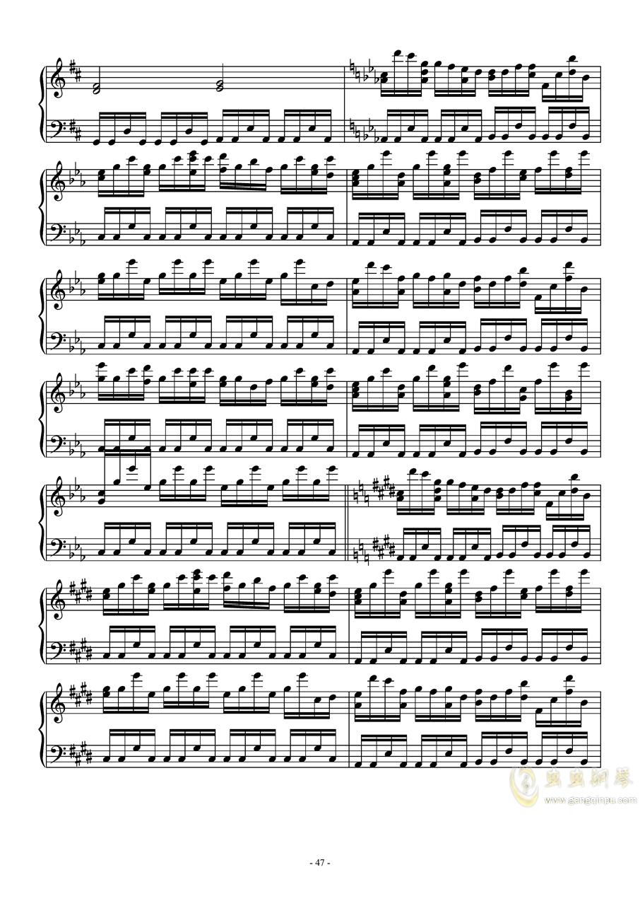 东方怪绮谈连弹钢琴谱 第47页