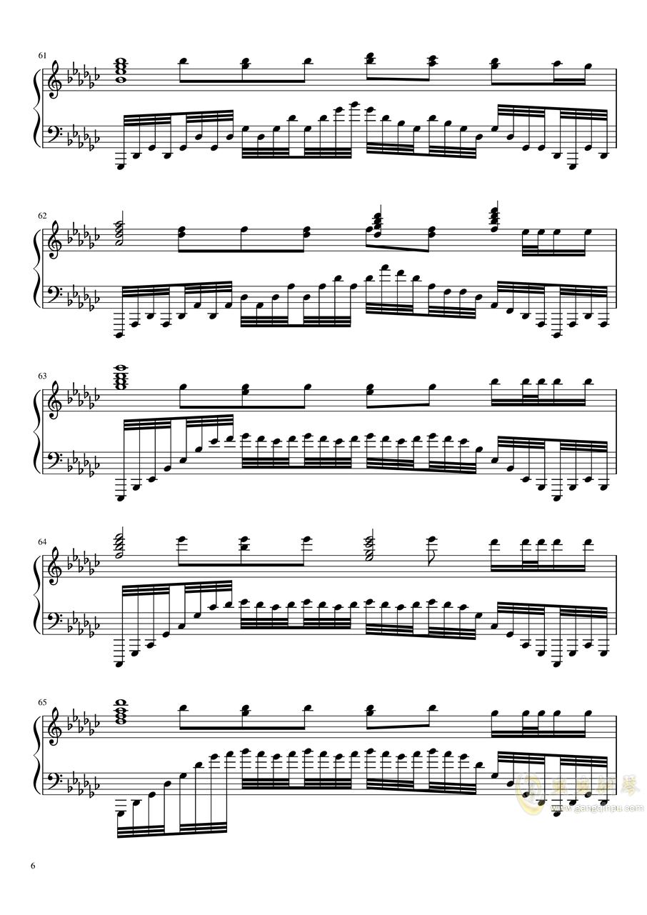 恋与制作人――极暗之时 faded钢琴谱 第6页