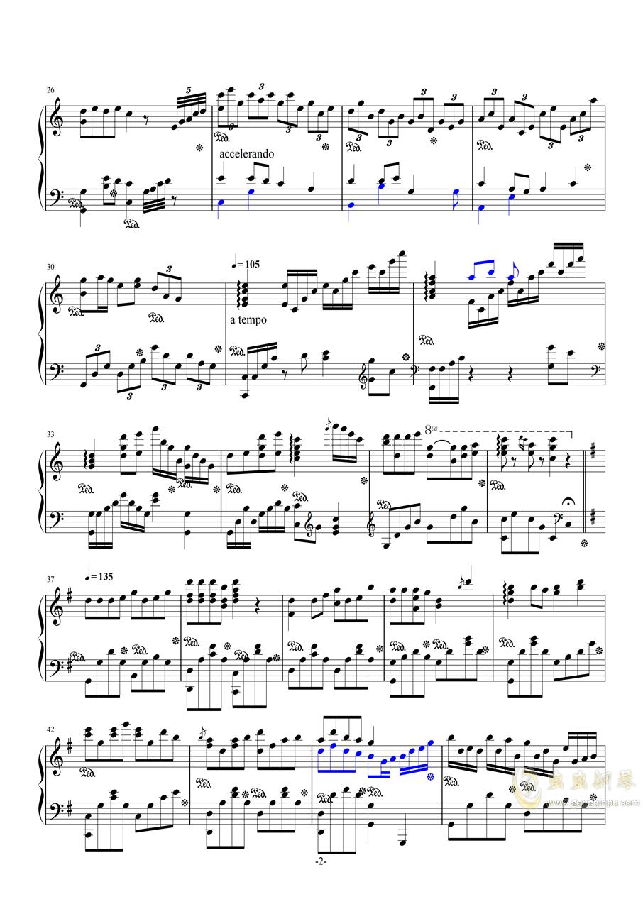 斗地主主题曲钢琴谱 第2页