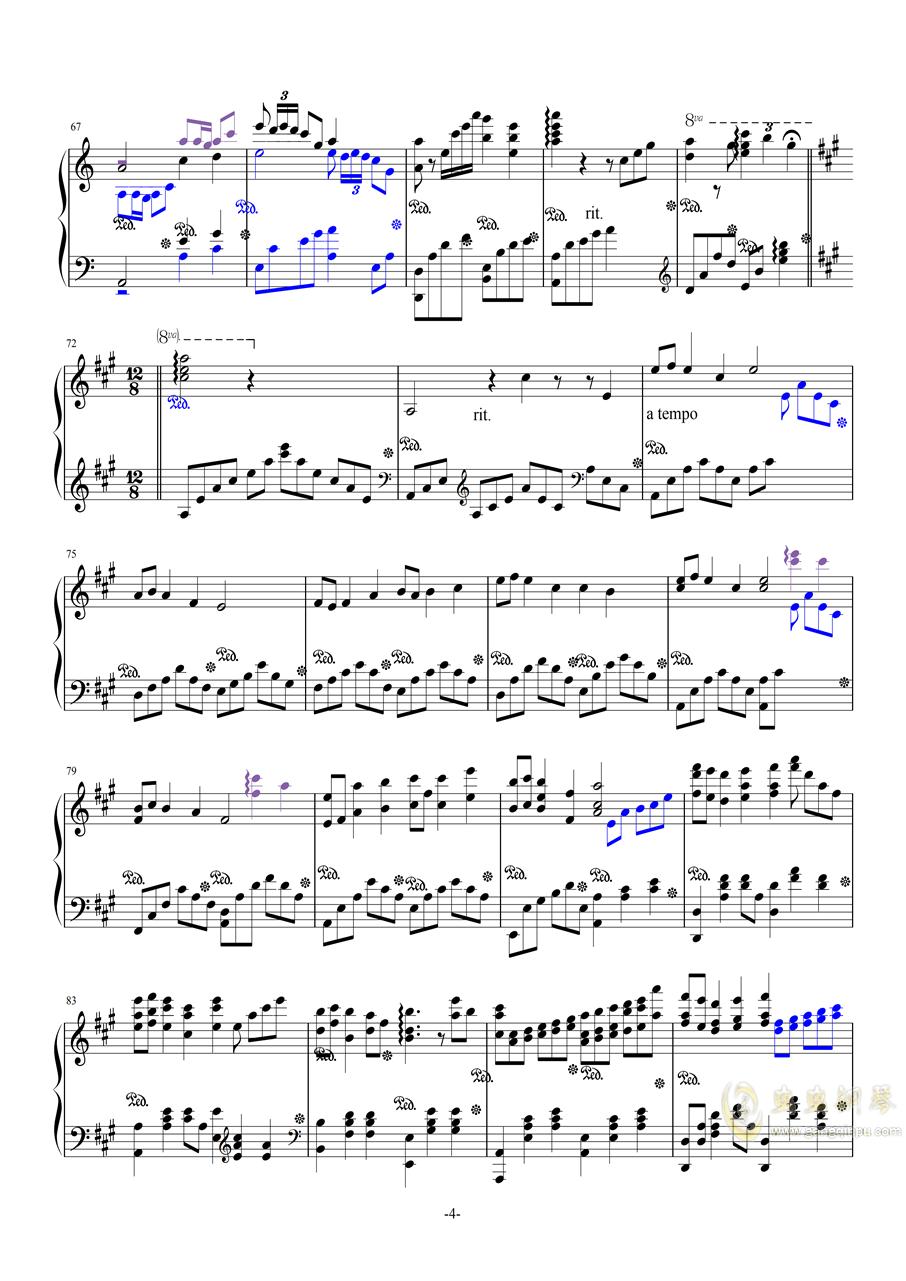 斗地主主题曲钢琴谱 第4页