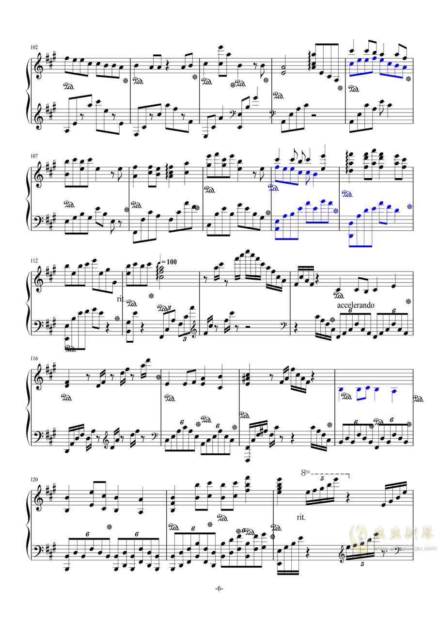 斗地主主题曲钢琴谱 第6页