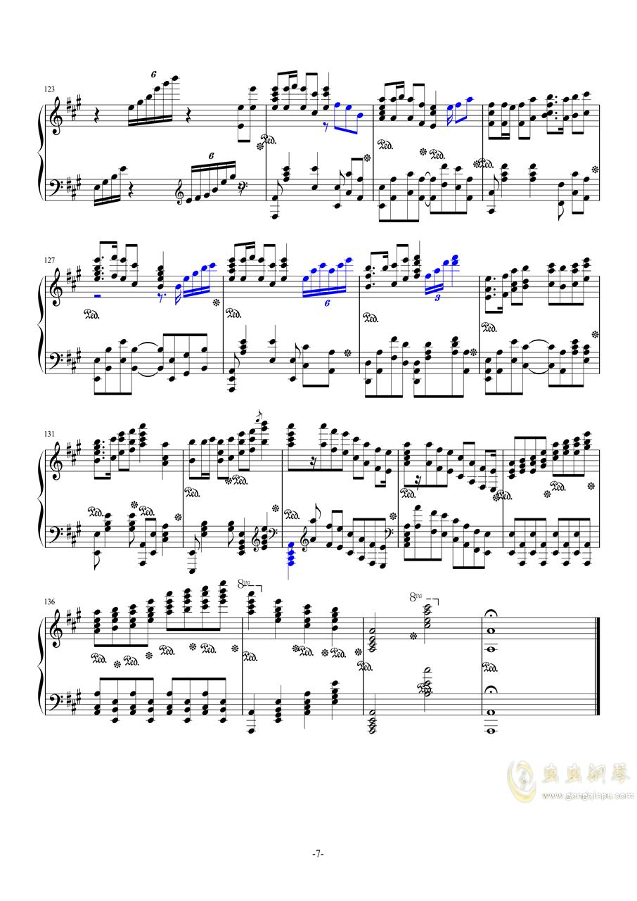 斗地主主题曲钢琴谱 第7页
