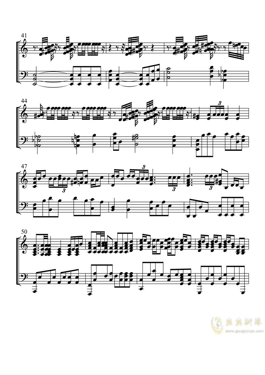 钢铁洪流进行曲钢琴谱 第4页