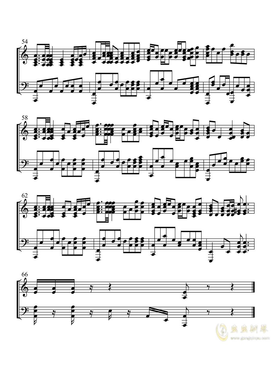 钢铁洪流进行曲钢琴谱 第5页