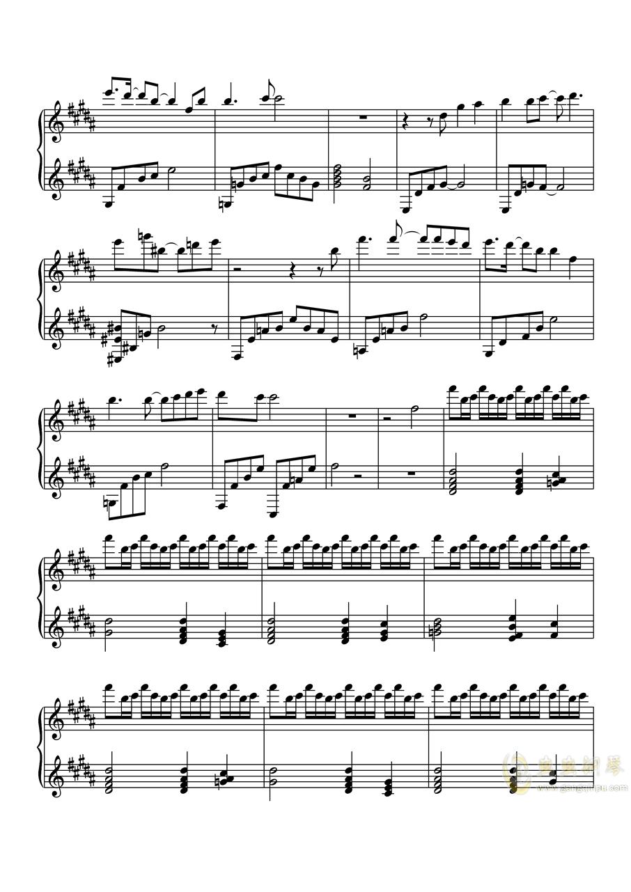 �簸胜橐�めないで(美少女万华镜4插曲)钢琴谱 第2页