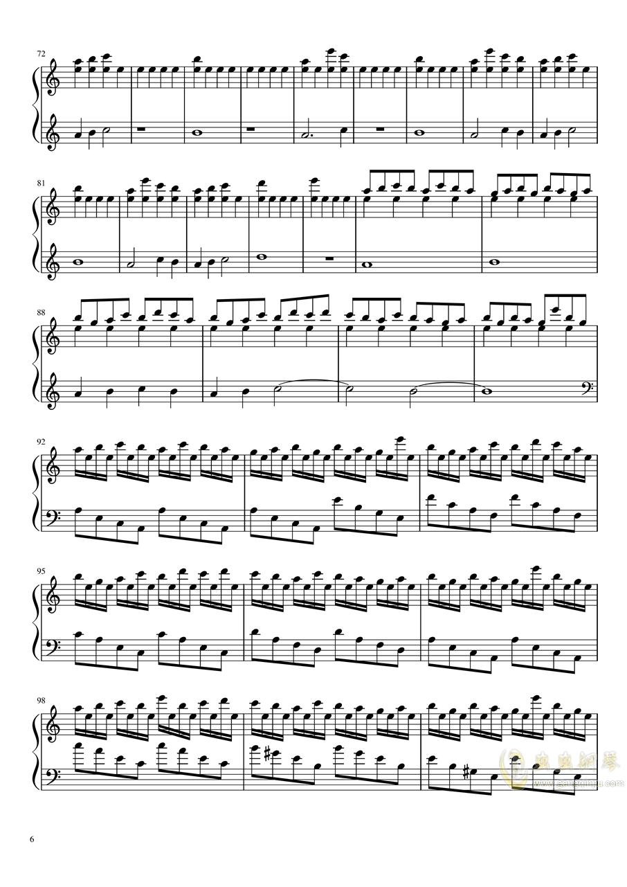恋与制作人――无限未来 星际穿越主题曲钢琴谱 第6页
