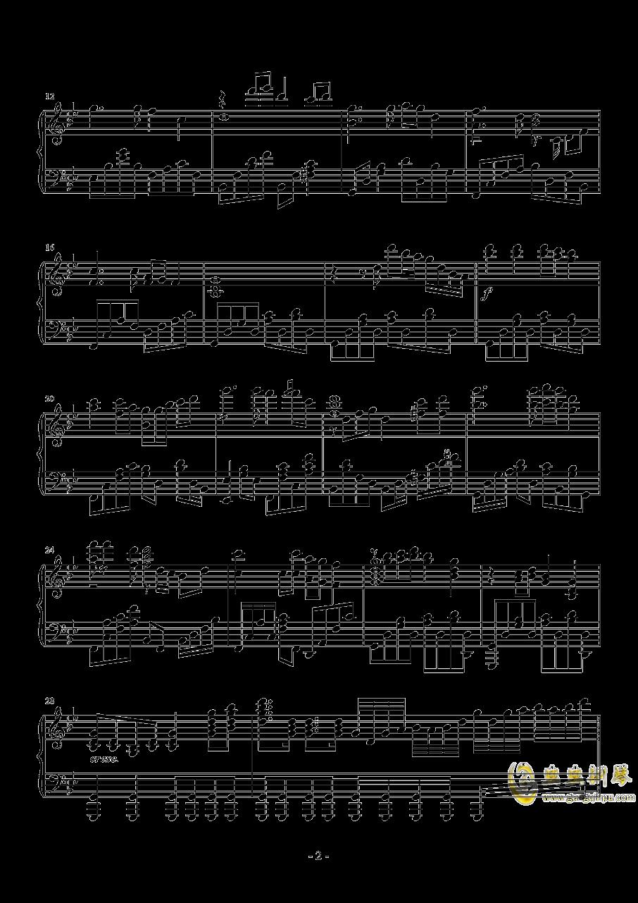 梦驼铃钢琴谱 第2页