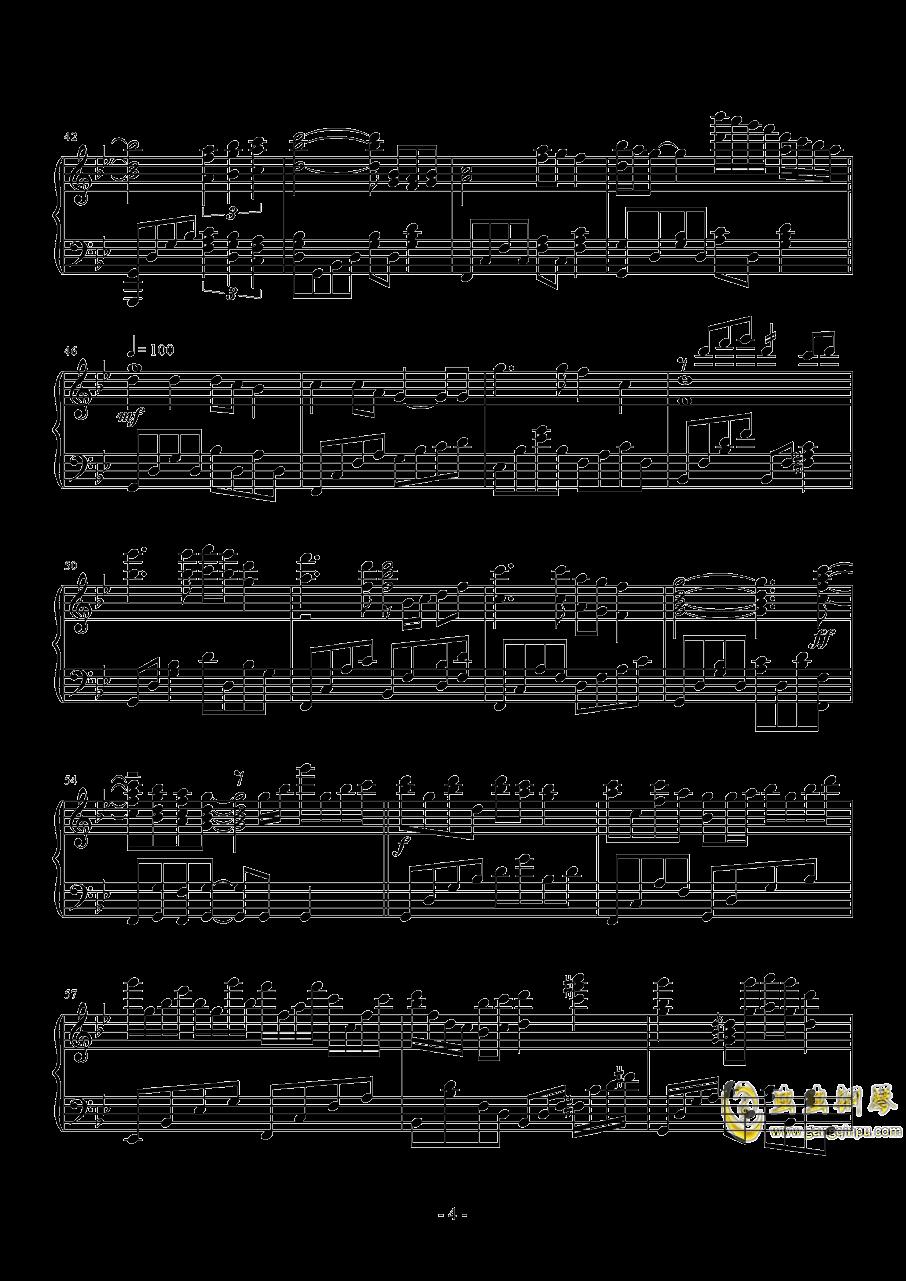 梦驼铃钢琴谱 第4页