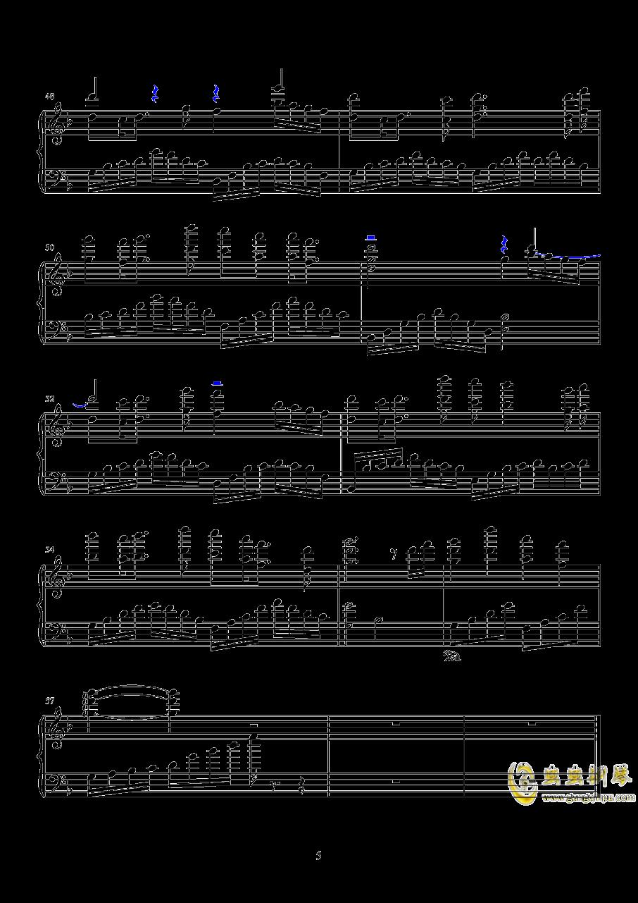 长生诀钢琴谱 第5页