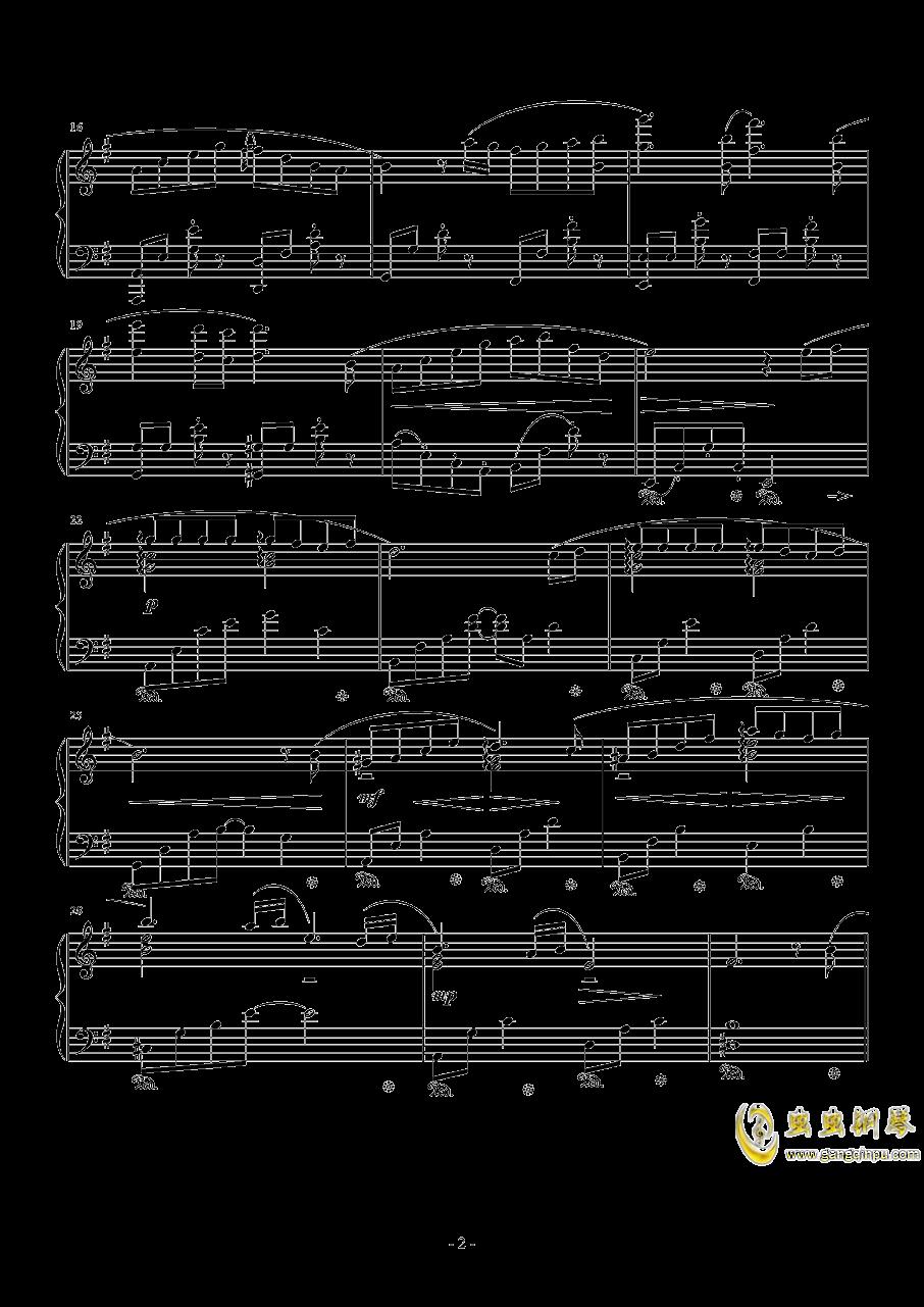 ��蛘婕o子-海の�える街钢琴谱 第2页
