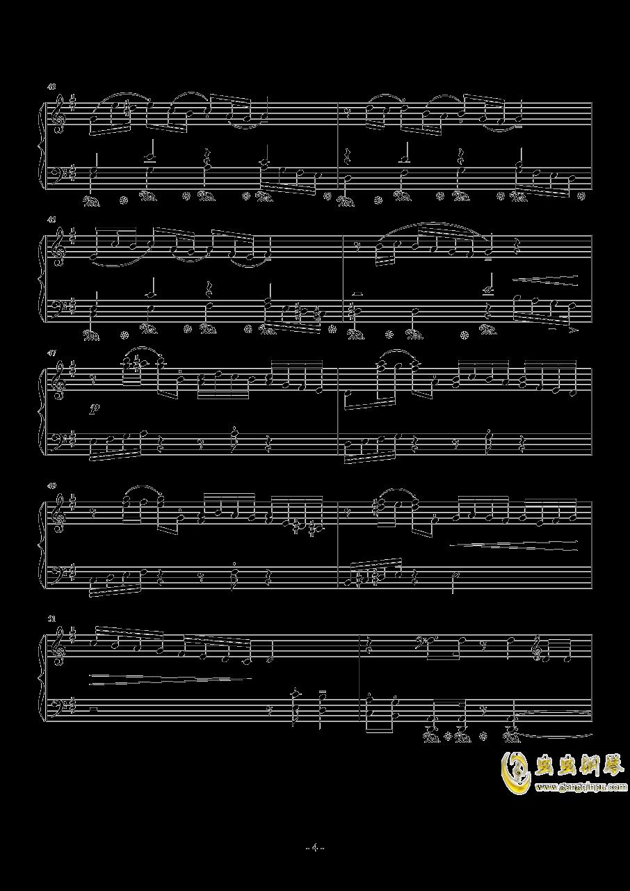 ��蛘婕o子-海の�える街钢琴谱 第4页