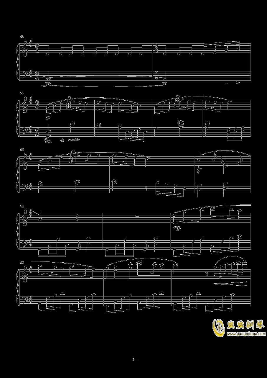 ��蛘婕o子-海の�える街钢琴谱 第5页