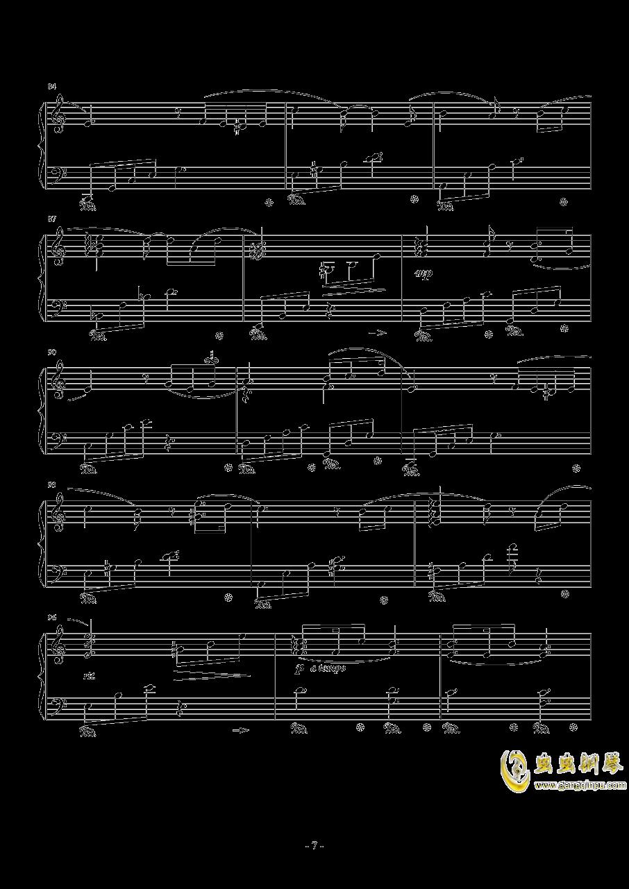��蛘婕o子-海の�える街钢琴谱 第7页