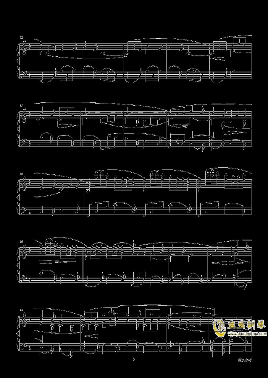 伊丽莎白小夜曲钢琴谱 第2页