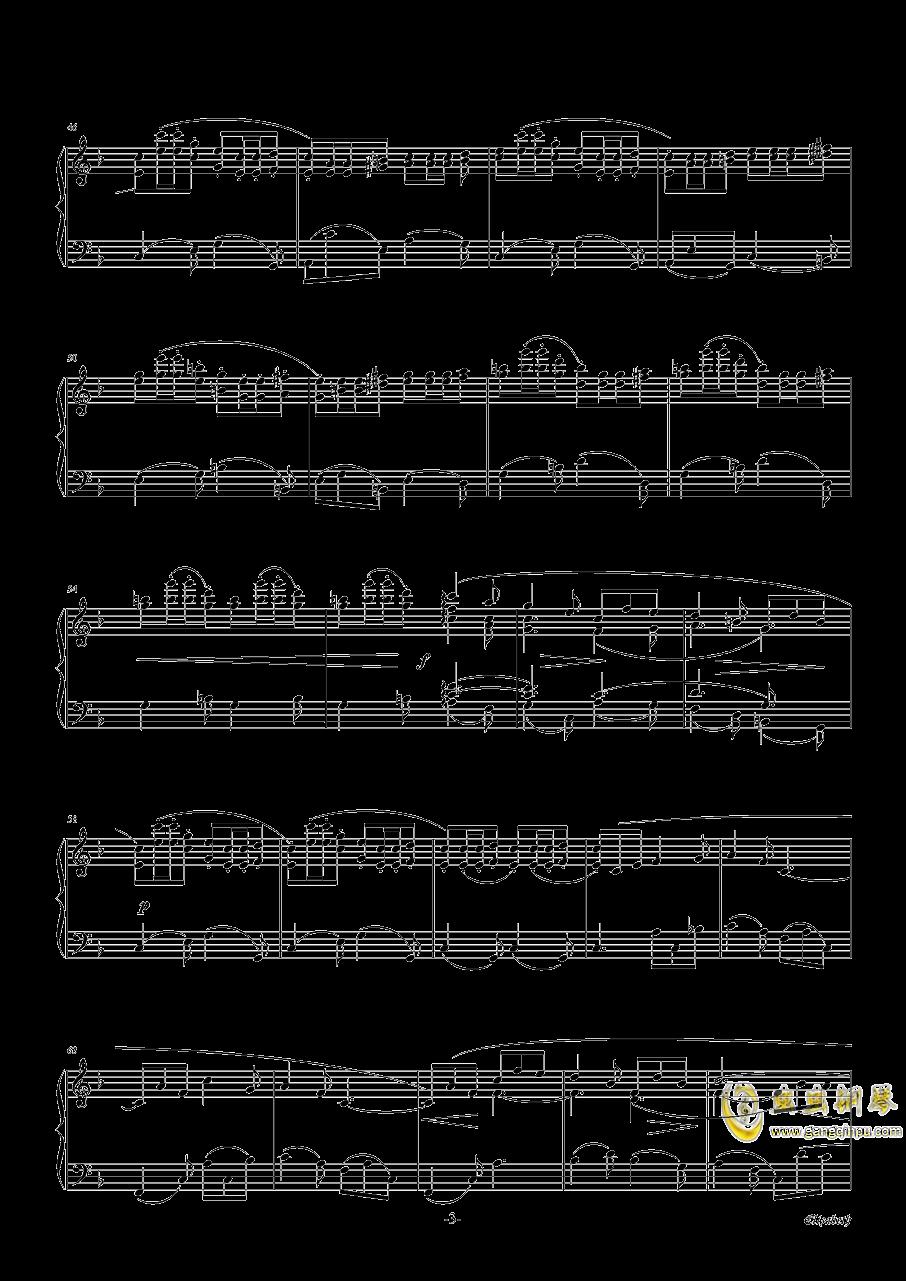 伊丽莎白小夜曲钢琴谱 第3页