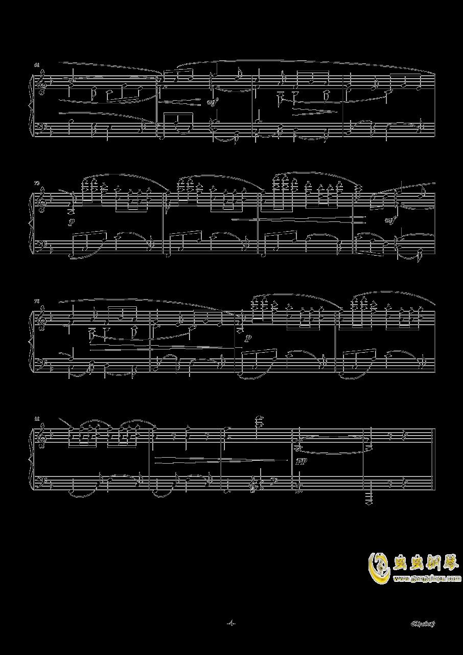 伊丽莎白小夜曲钢琴谱 第4页