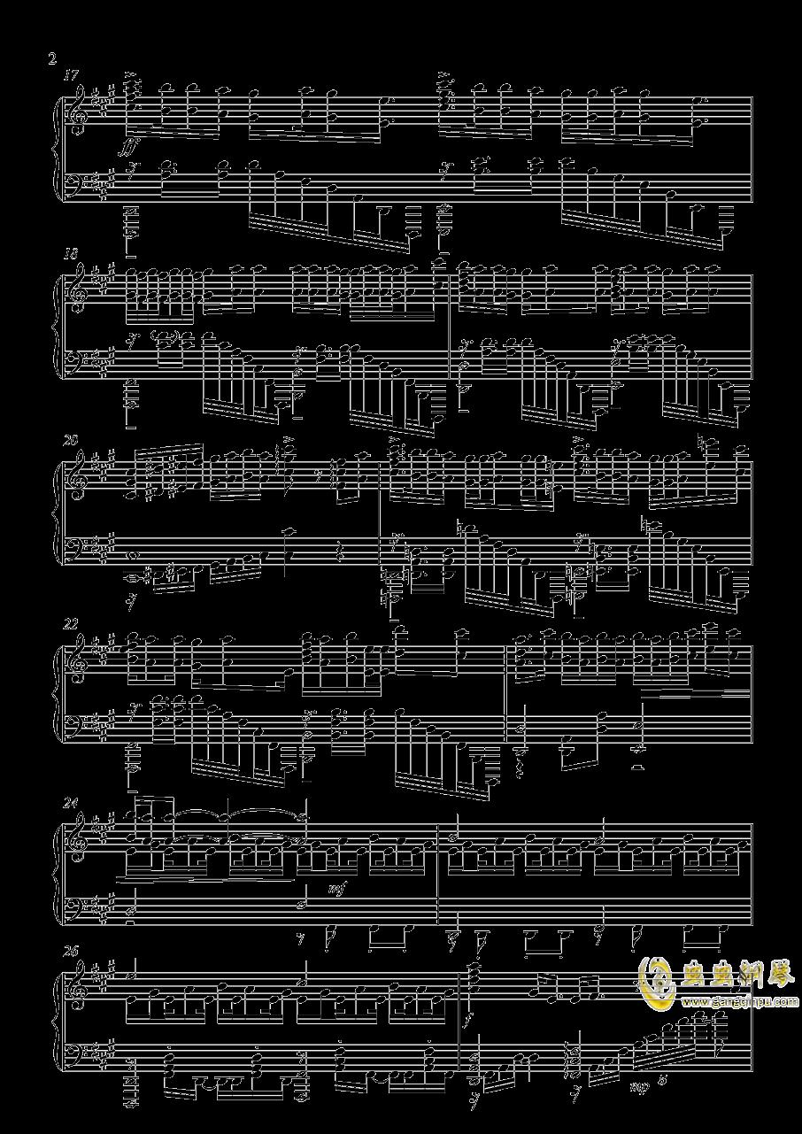 家有女友op カワキヲアメク钢琴谱 第2页