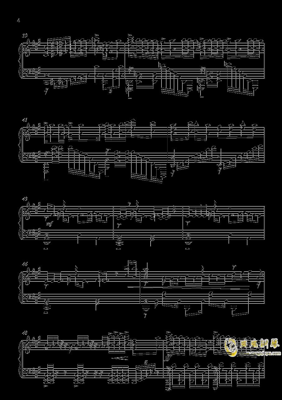 家有女友op カワキヲアメク钢琴谱 第4页