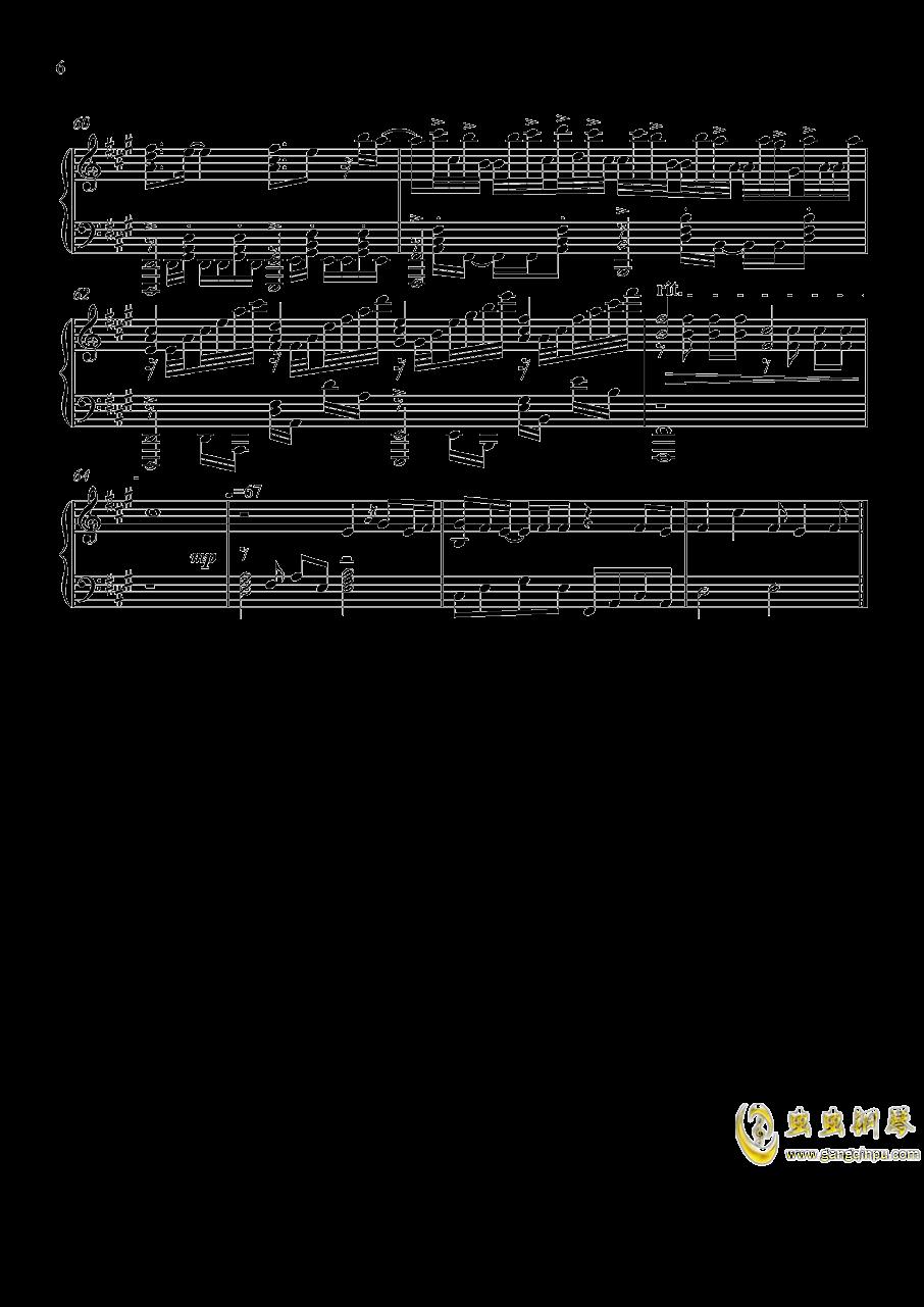 家有女友op カワキヲアメク钢琴谱 第6页