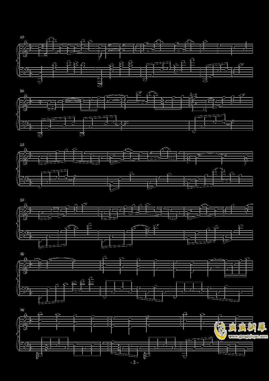 墨绿的夜钢琴谱 第2页