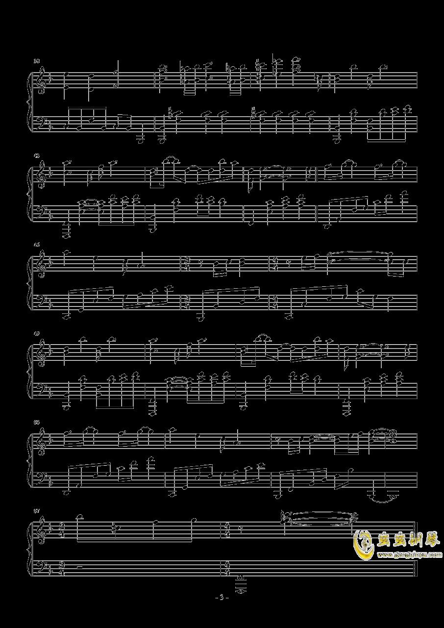 墨绿的夜钢琴谱 第3页