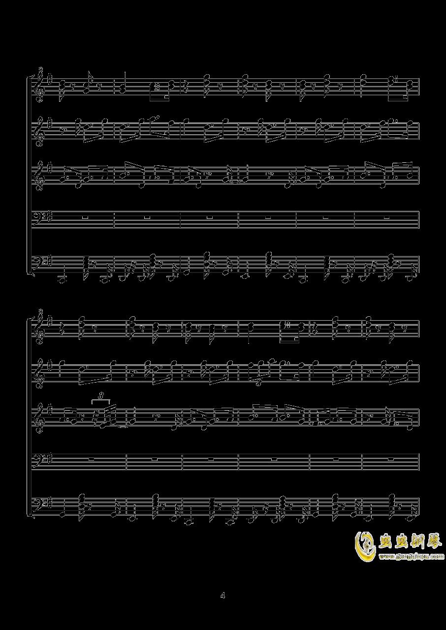 泡杯茶~钢琴谱 第4页