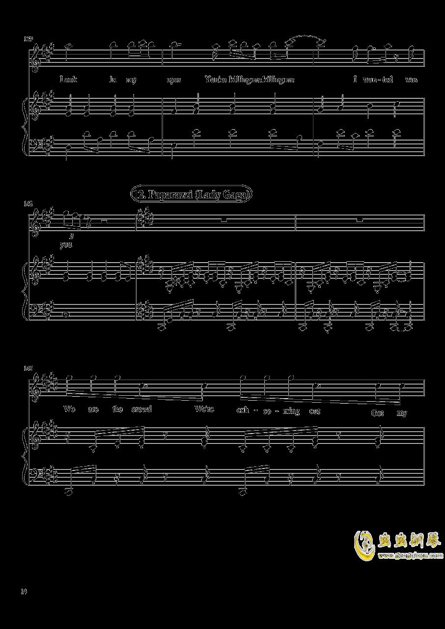 演唱会歌曲串烧钢琴谱 第14页