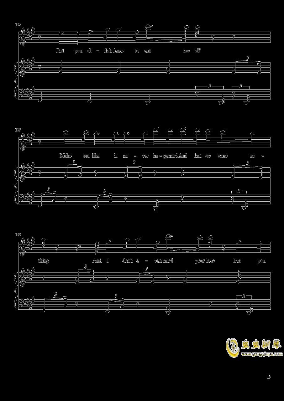 演唱会歌曲串烧钢琴谱 第19页