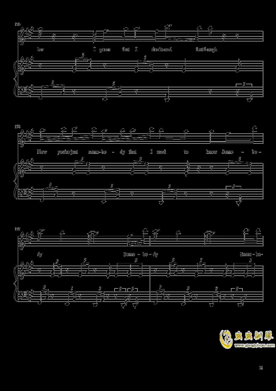 演唱会歌曲串烧钢琴谱 第21页