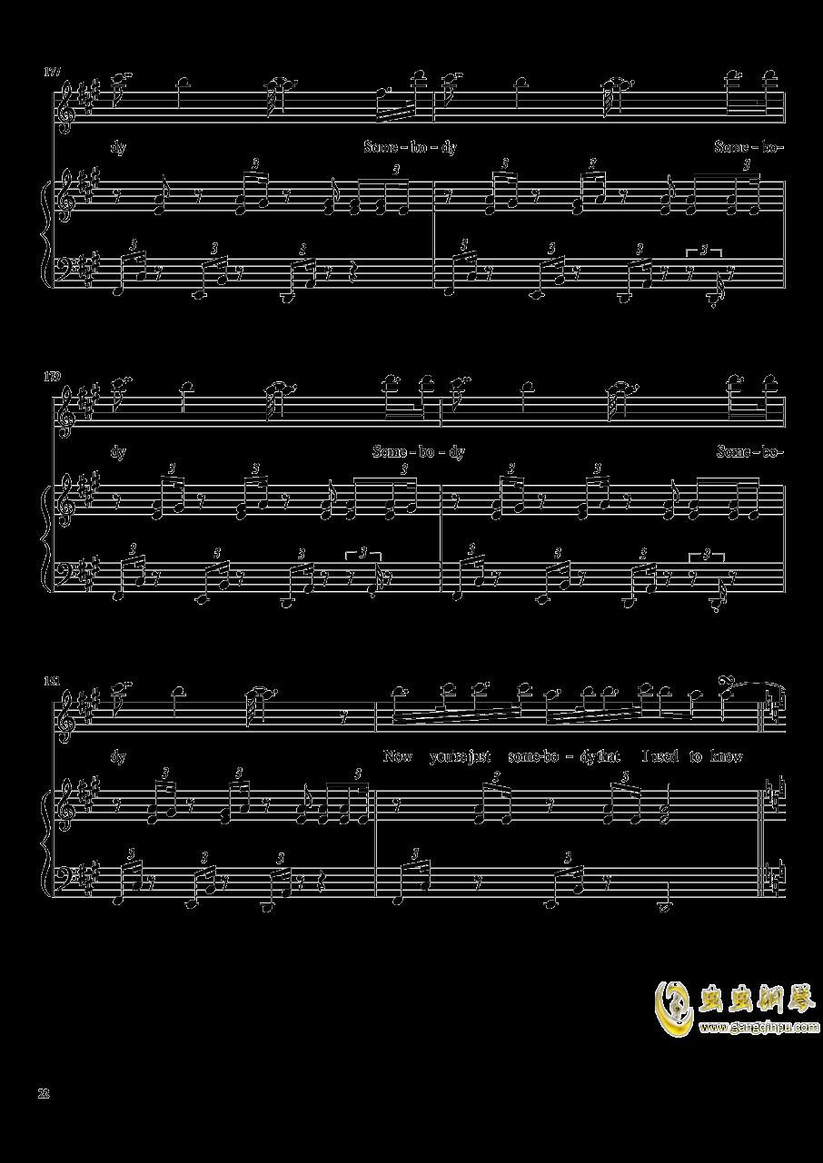 演唱会歌曲串烧钢琴谱 第22页