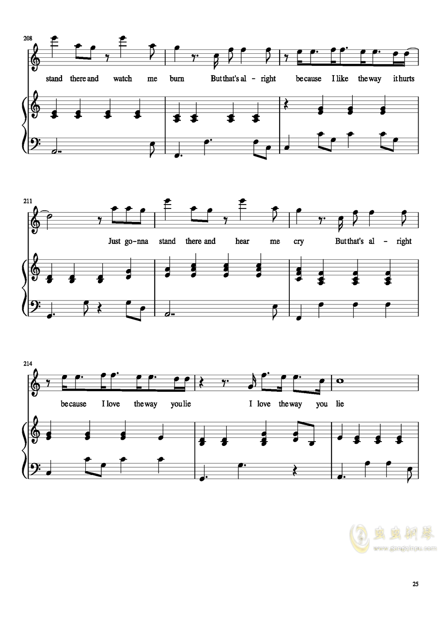 演唱会歌曲串烧钢琴谱 第25页