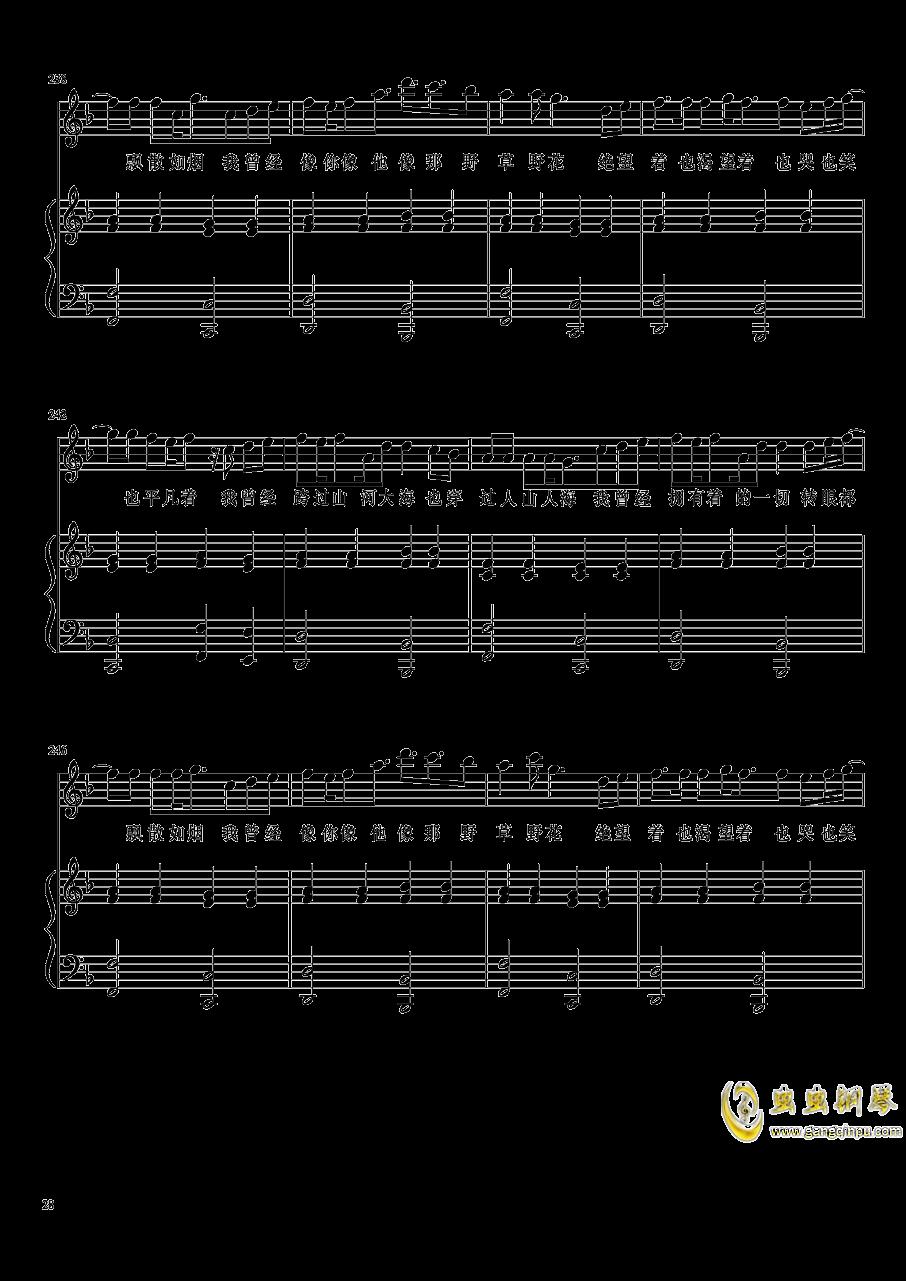 演唱会歌曲串烧钢琴谱 第28页
