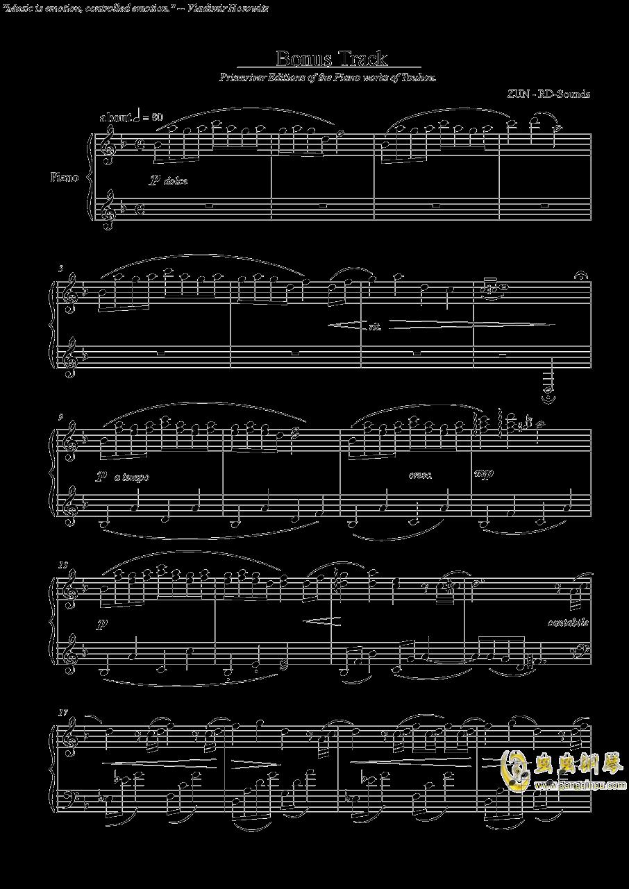 Bonus Track钢琴谱 第1页