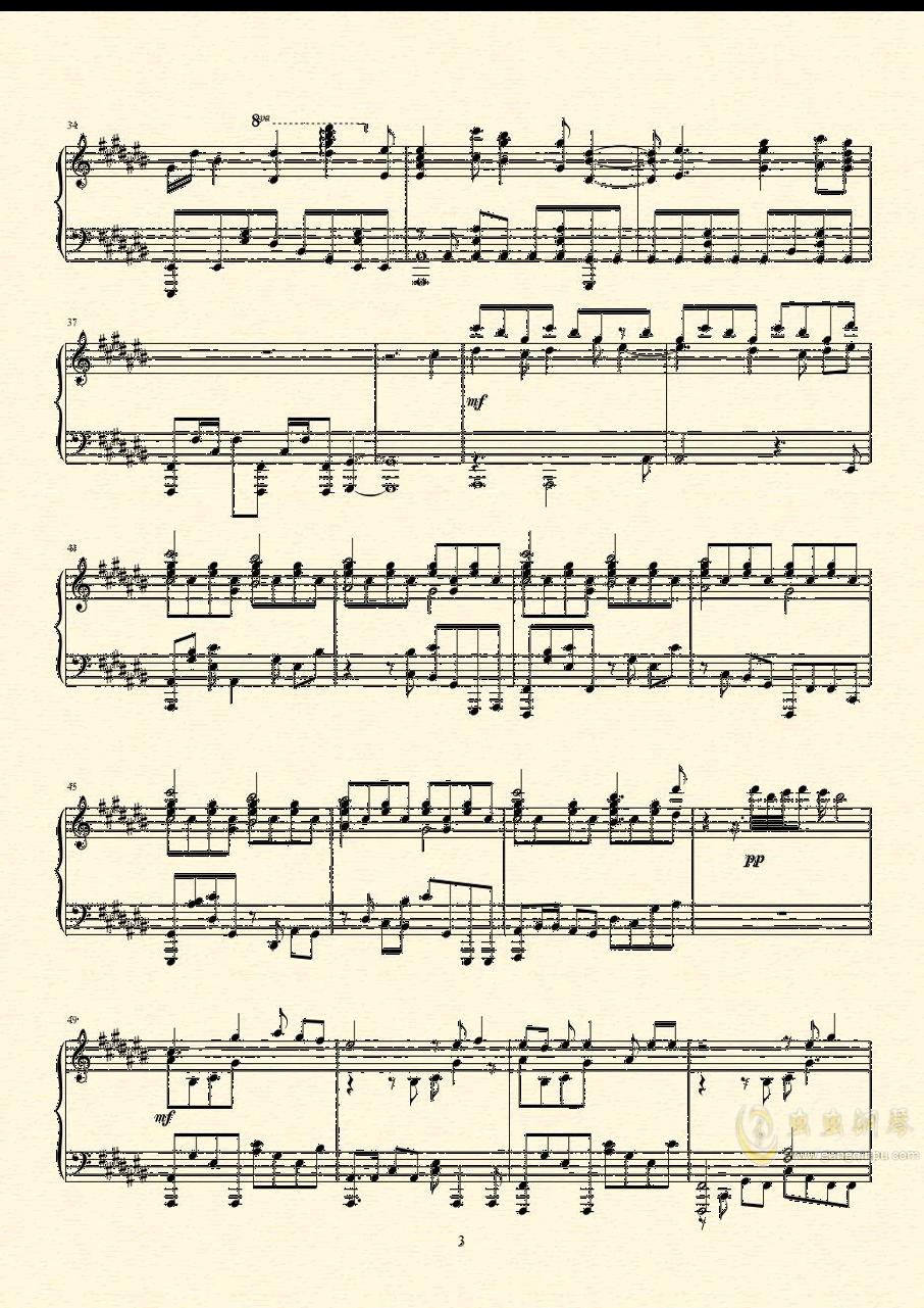未明の君と薄明の魔法 来自多彩世界的明天ED钢琴谱 第4页