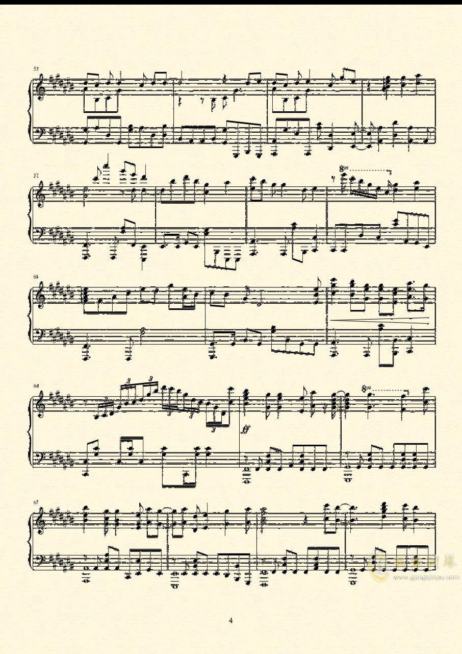 未明の君と薄明の魔法 来自多彩世界的明天ED钢琴谱 第5页