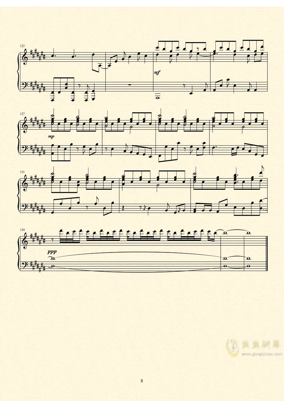 未明の君と薄明の魔法 来自多彩世界的明天ED钢琴谱 第9页