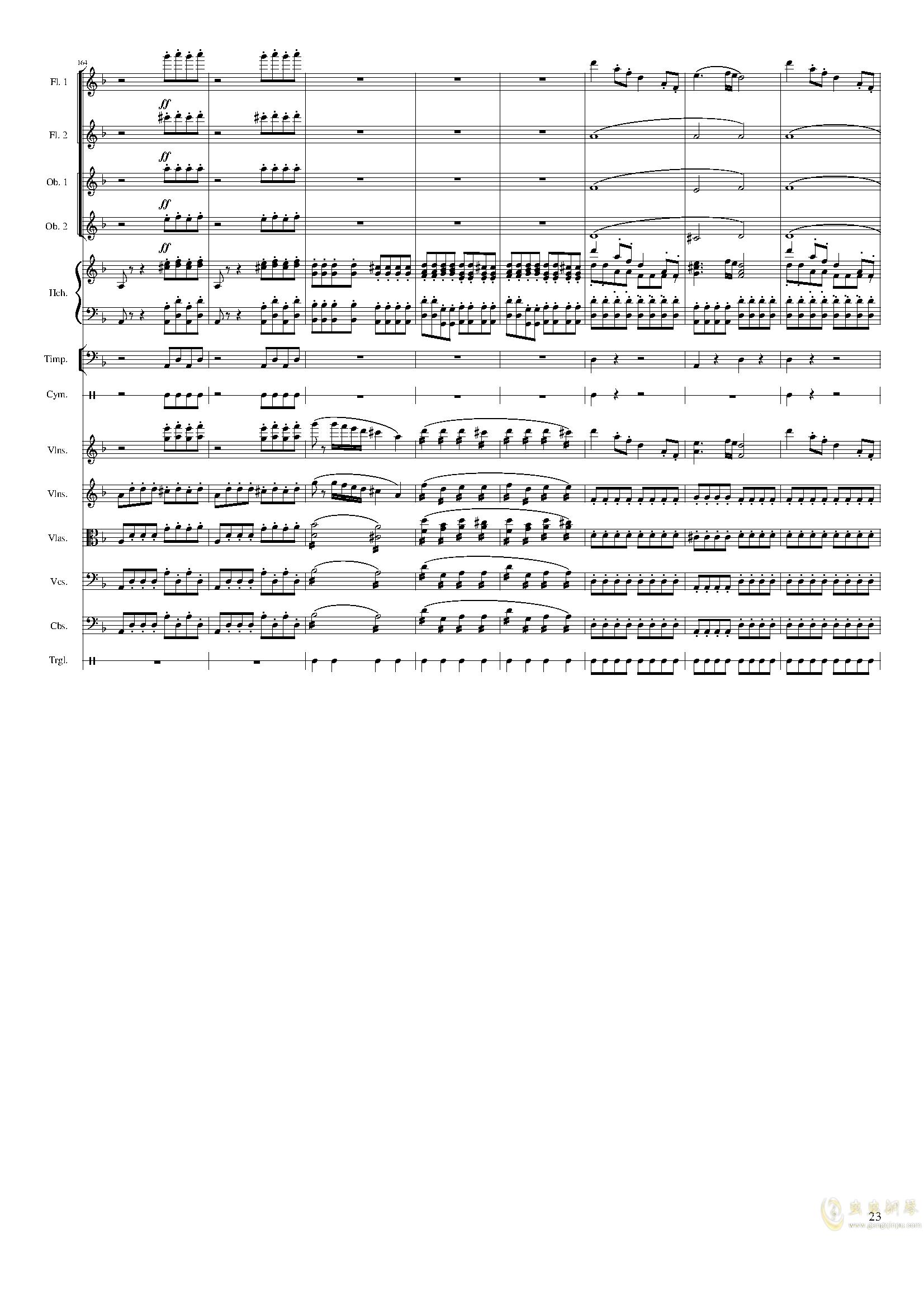 春节序曲,作品121钢琴谱 第23页