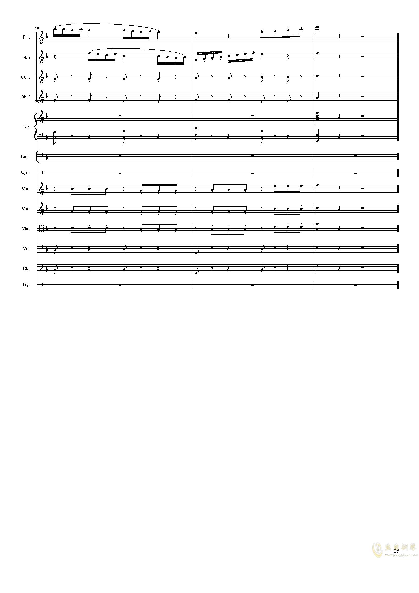 春节序曲,作品121钢琴谱 第25页
