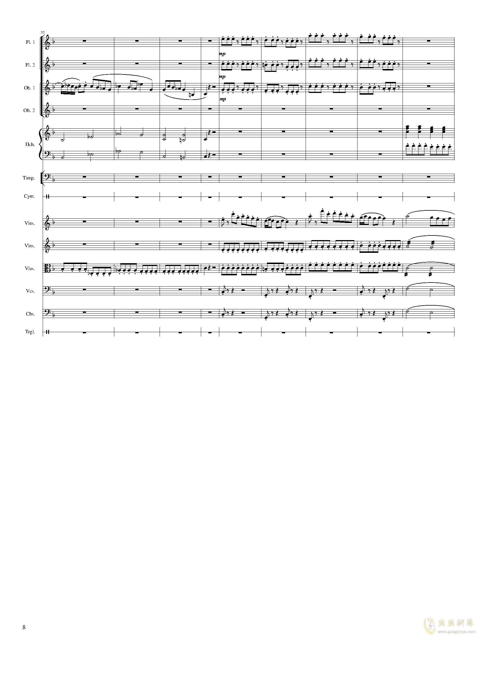春节序曲,作品121钢琴谱 第8页