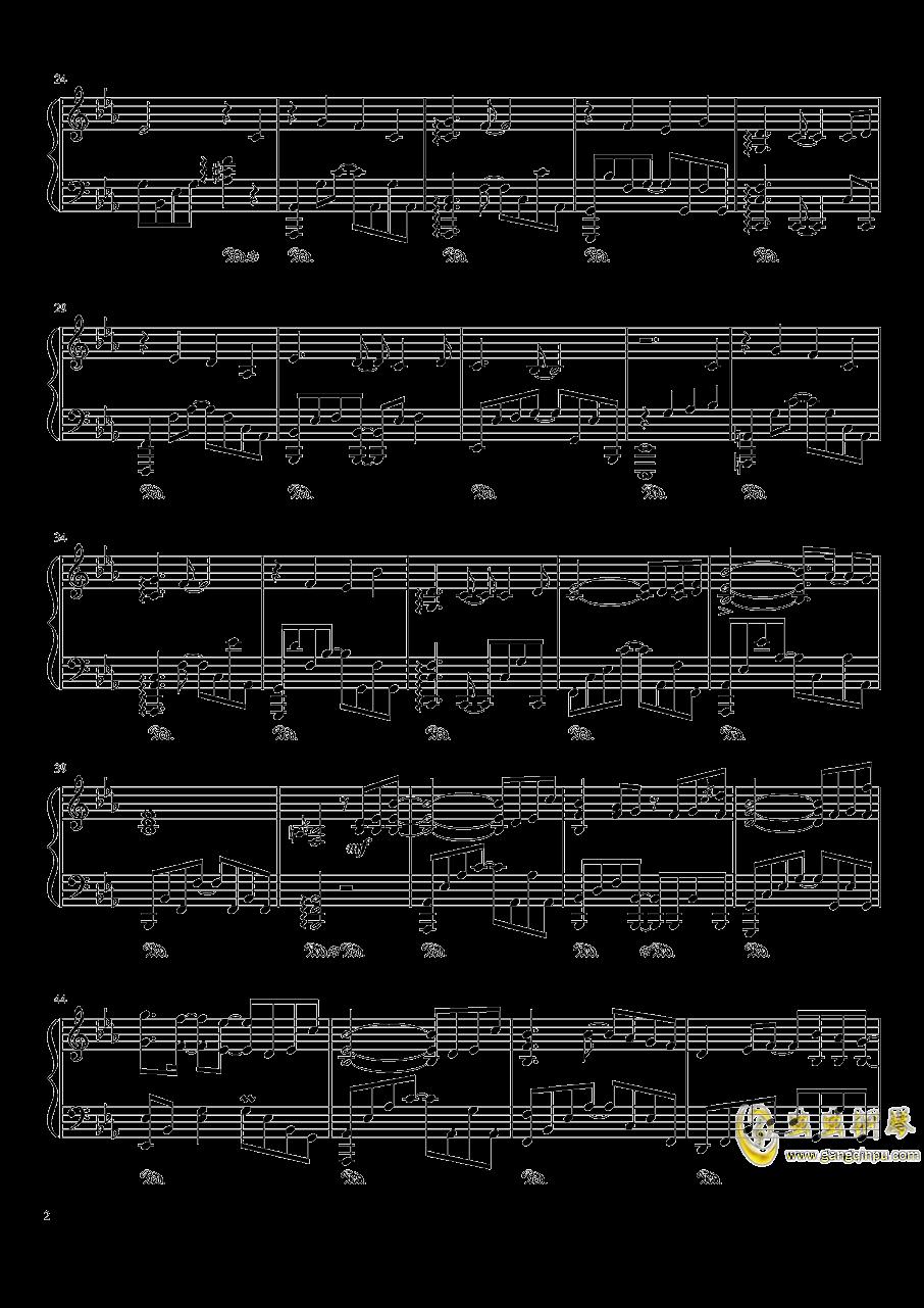 ポッケ村のテ�`マ钢琴谱 第2页