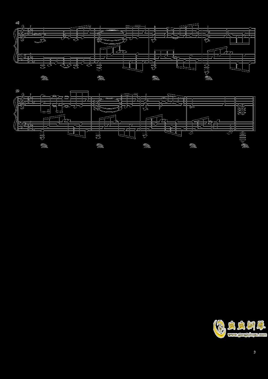 ポッケ村のテ�`マ钢琴谱 第3页