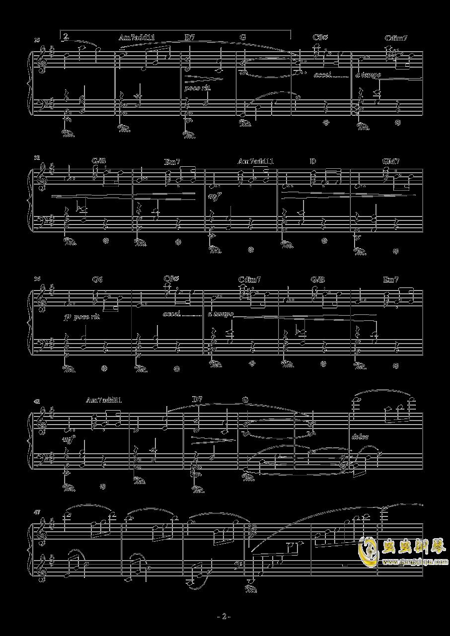 水面のワルツ钢琴谱 第2页