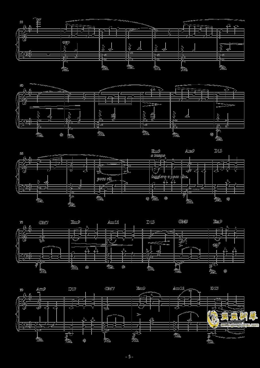 水面のワルツ钢琴谱 第3页